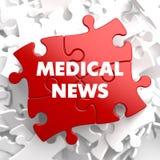 Medicinsk nyheterna på rött pussel royaltyfri illustrationer