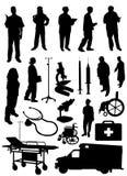 medicinsk objektvektor stock illustrationer