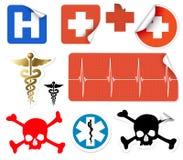 medicinsk olik vektor för set symboler Arkivfoto