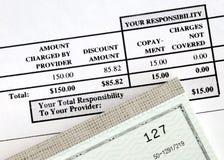 medicinsk pay för bill Arkivbild