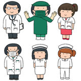 medicinsk personal Arkivfoton