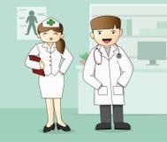 Medicinsk personal, doktor och sjuksköterska Royaltyfria Bilder