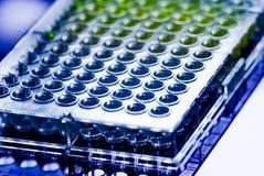 Medicinsk prövkopia Tray Pipette Testing Laboratory för sjukhus Arkivfoton