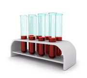 Medicinsk provrör med blodprövkopior Arkivbilder