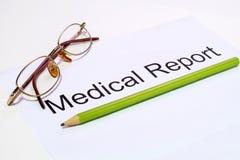 medicinsk rapport Royaltyfri Fotografi