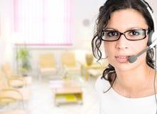 medicinsk receptionist Royaltyfria Bilder