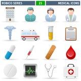 medicinsk robicoserie för symboler Royaltyfri Bild
