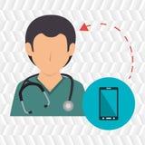 medicinsk service för sjuksköterskastetoskop Royaltyfri Bild