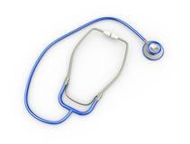 medicinsk stetoskopillustration för blått 3d Royaltyfri Fotografi