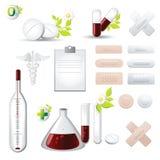 Medicinsk symbol stock illustrationer