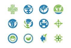Medicinsk symbol eller logouppsättning Arkivfoton