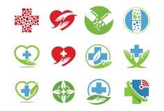 Medicinsk symbol eller logouppsättning Royaltyfri Bild