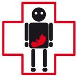 Medicinsk symbol för mänsklig kontur av havandeskap Royaltyfri Illustrationer