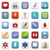 Medicinsk symbolsuppsättning Arkivfoto