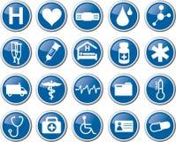 Medicinsk symbolsuppsättning för hälsovård Royaltyfri Fotografi