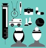 Medicinsk symbolsuppsättning i vektor Royaltyfria Bilder