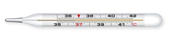 medicinsk termometer Arkivbild