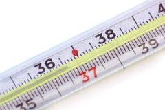 Medicinsk termometermakro Fotografering för Bildbyråer