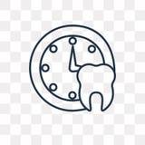 Medicinsk tidsbeställningsvektorsymbol som isoleras på genomskinlig backgrou royaltyfri illustrationer