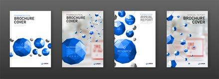 Medicinsk uppsättning för broschyrräkningsmallar vektor illustrationer