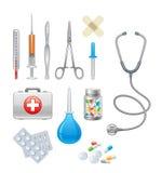 Medicinsk utrustning royaltyfri illustrationer