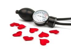Medicinsk utrustning för blodtryckmeter arkivfoto