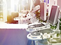 Medicinsk utrustning för ultraljud royaltyfria foton