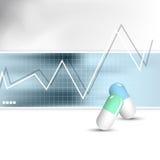 Medicinsk vård- bakgrund Vektor Illustrationer