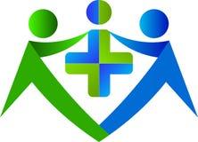 Medicinsk vårdlogo stock illustrationer