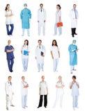 Medicinska arbetare, manipulerar, sjuksköterskor royaltyfri bild