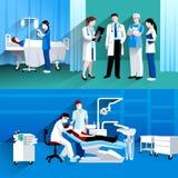 Medicinska baner för doktor och för sjuksköterska 2 royaltyfri illustrationer
