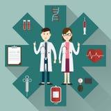 Medicinska doktorer och symbol Arkivbilder
