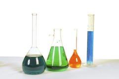 Medicinska eller vetenskapliga flaskor Royaltyfria Bilder