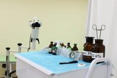 medicinska förberedelser Ögon- utrustning royaltyfri fotografi