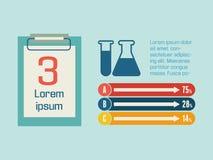 Medicinska Infographic. Royaltyfri Fotografi