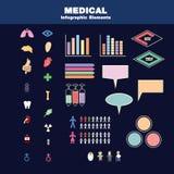Medicinska infographic element Arkivfoton