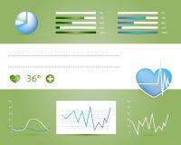 Medicinska infographicsbeståndsdelar Royaltyfria Bilder