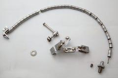 Medicinska instrument som används i neurosurgery Medicinska instrument för trepanationen av skallen Arkivbilder