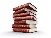 Medicinska läroböcker (den inklusive snabba banan) royaltyfri illustrationer