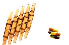 medicinska liten medicin flaskapills Arkivfoto