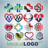 Medicinska Logo Set arkivfoton