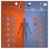 Medicinska och vård- Infographic Infochart Royaltyfria Bilder