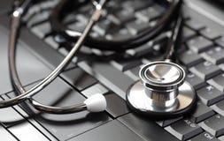 medicinska online-tillförsel Arkivfoto