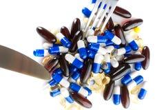 medicinska pills Fotografering för Bildbyråer