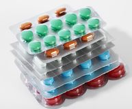 medicinska pills Royaltyfri Foto