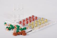 medicinska produkter Arkivfoton