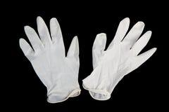 medicinska svarta handskar Arkivbilder