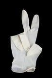 medicinska svarta handskar Royaltyfri Foto