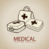 Medicinska symboler Arkivfoto
