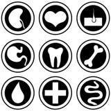 Medicinska symboler. stock illustrationer